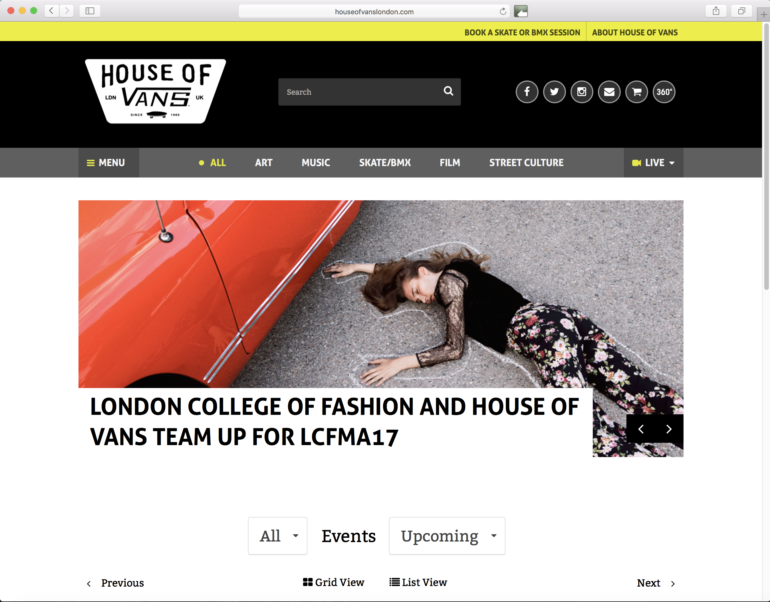 LCF MA & House of Vans